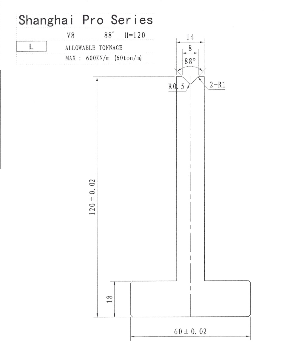 Shanghai Pro LM Pillar 120 x 8 x 88