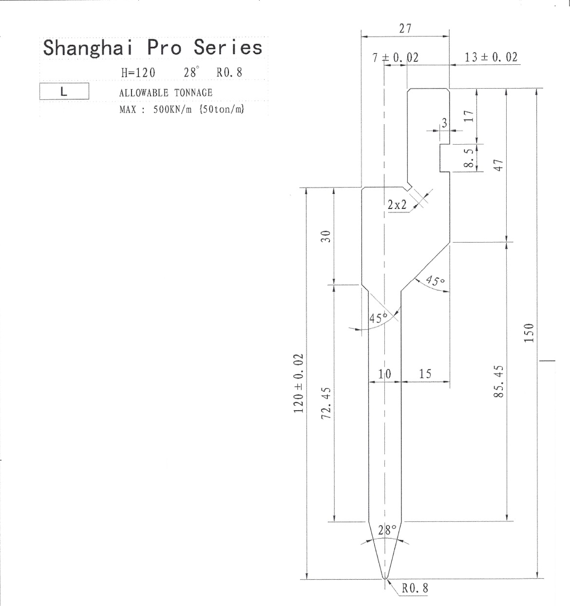 Shanghai Pro LM Punch 28 Segmented