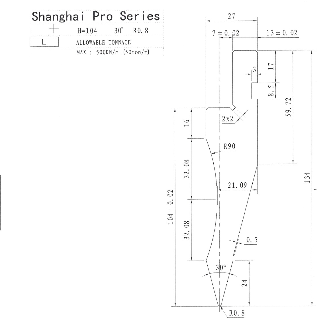 Shanghai Pro LM Punch 30 Segmented